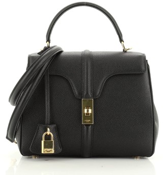 Celine 16 Top Handle Bag Grained Calfskin Small