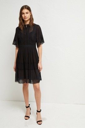 French Connection Drina Lace Embroidered Dress