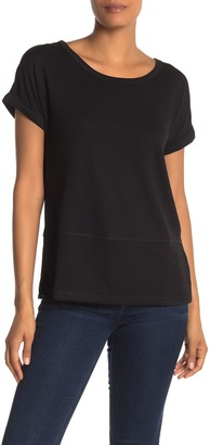 Catherine Malandrino Cuffed Sleeve Relaxed T-Shirt