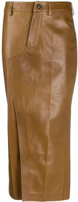 Marni Lambskin Leather Pencil Skirt