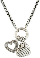 David Yurman Diamond Heart Charm Necklace