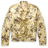 Dries Van Noten Valerian Sequinned Printed Satin Blouson Jacket