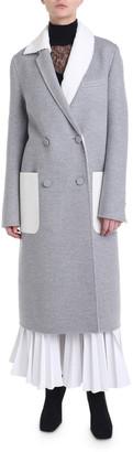 Fendi Fur-Lapel Double-Breasted Cashmere Coat