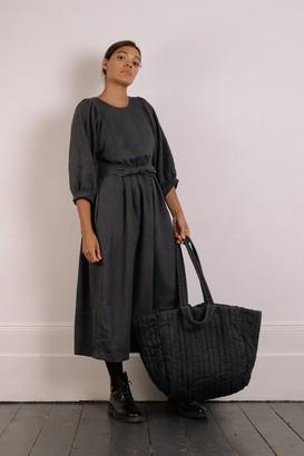 The Regular The Regular - Quilt Dress - Slate Grey Garment Dyed Linen