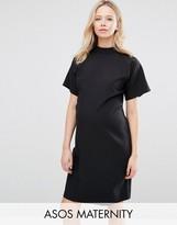 Asos Short Sleeve High Neck Pencil Dress