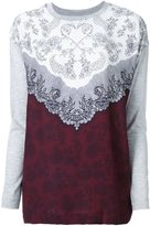 Mother of Pearl lace print sweatshirt