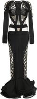 Balmain Long Fishnet Dress