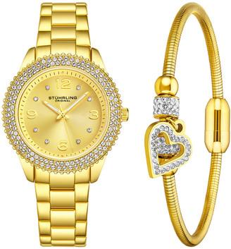 Stuhrling Original Women's Vogue Watch & Bracelet