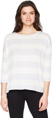 Calvin Klein Women's Crew Neck Boxy Pullover with hi Low Hem