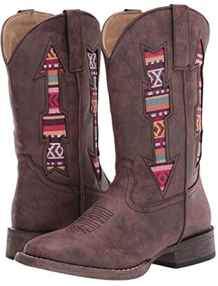 Roper Double Arrows (Toddler/Little Kid) (Brown Vamp/Brown Arrow Shaft) Cowboy Boots