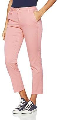 Benetton Women's Trousers, Pink 7h0, ((Size: 46)