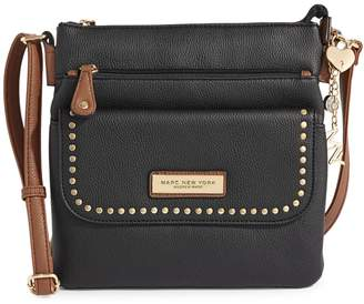Andrew Marc Logo Leather Crossbody Bag