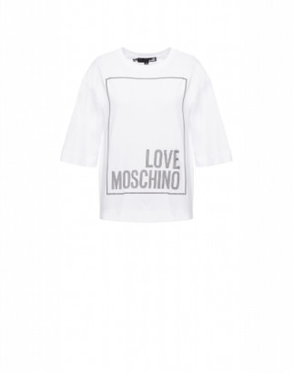 Love Moschino Jersey T-shirt Square Logo