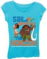 Freeze Moana Sail Beyond The Horizon Tee (Little Girls)