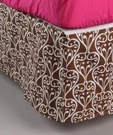 Bacati Damask Pink/Chocolate Full Bed Skirt