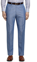 Brooks Brothers Blue Linen and Cotton Dress Trousers