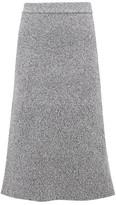Tibi High-rise Ribbed-knit Midi Skirt - Womens - Grey