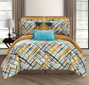 Chic Home Abstract 7 Piece Twin Bed In a Bag Comforter Set Bedding