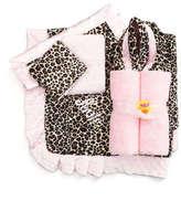 Swankie Blankie Cheetah-Print Receiving Blanket, Plain