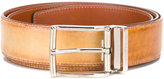 Santoni rectangular bluckle belt - men - Calf Leather - 95