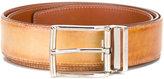 Santoni rectangular bluckle belt