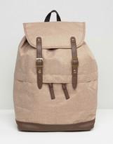Asos Backpack In Brown Melange