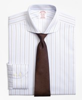 Brooks Brothers Madison Classic-Fit Dress Shirt, Non-Iron Double Alternating Stripe