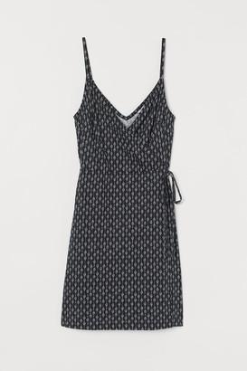 H&M Modal-blend Wrap Dress - Blue