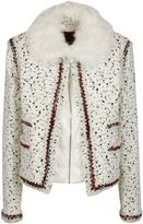 Moncler Gamme Rouge Shearling Collar Boucle Jacket