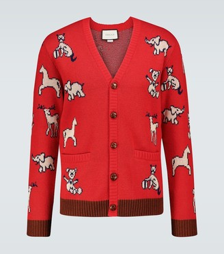 Gucci Hawaii knitted cardigan