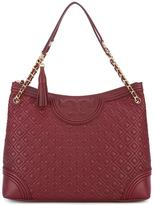 Tory Burch embossed detail tote bag - women - Lamb Skin - One Size