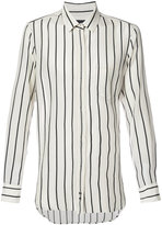 Ann Demeulemeester concealed placket striped shirt - men - Cotton/Acetate - XS