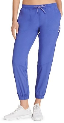 Dkny Sport Striped Perforated Jogger Pants