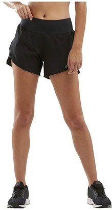 2XU XVENT 4 Shorts w/ Brief (Black/Silver Reflective) Women's Shorts