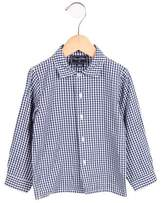 Oscar de la Renta Boys' Gingham Patterned Button-Up Shirt