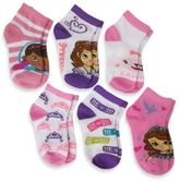 Disney Size 2-4T 6-Pack Doc McStuffins and Sofia the First Girls Quarter Socks in Assorted Designs