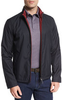 Ermenegildo Zegna Reversible Full-Zip Jacket, Navy