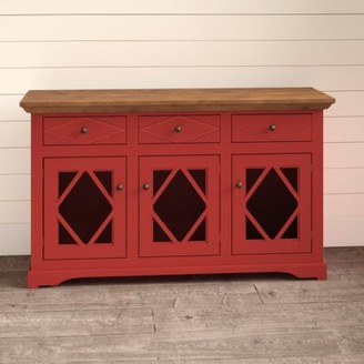 Velazco Sideboard Darby Home Co Base Color: Autumn Gold, Top Color: Concord Cherry