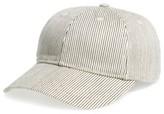 Madewell Women's Stripe Baseball Cap - Blue