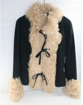 Dolce & Gabbana excellent (EX Curly Lamb Trimmed Suede Jacket