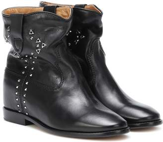 Isabel Marant Cluster studded leather ankle boots