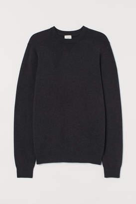 H&M Fine-knit Cotton Sweater - Black