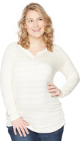 Motherhood Plus Size Convertible Sleeve Maternity Top