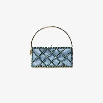 Rosantica blue garofano crystal embellished mini bag