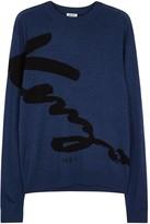 Kenzo Blue Intarsia Wool Jumper