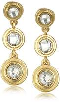 Karen Kane Cabo Disc Gold Tone Drop Earrings