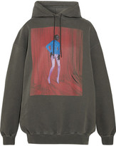 Balenciaga Printed Cotton-jersey Hooded Sweatshirt