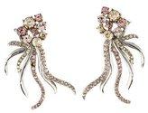 Oscar de la Renta Crystal Ribbon Clip-On Earrings