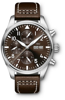 IWC Pilot Antoine de Saint Exupery Stainless Steel & Leather Strap Chronograph Watch