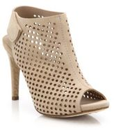 Pedro Garcia Sofia Perforated Suede Open-Toe Booties